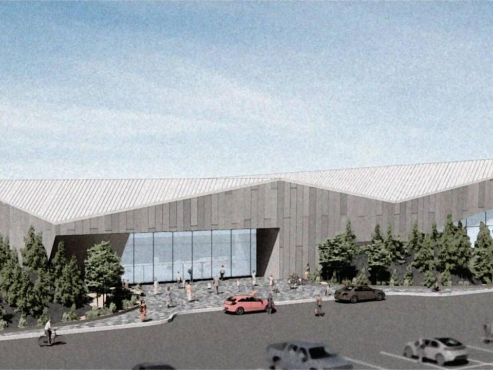 A concept design for the proposed aquatic centre in Yellowknife. (City of Yellowknife - image credit)