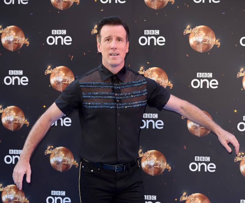 LONDON, ENGLAND - AUGUST 27: Anton Du Beke attends the red carpet launch for 'Strictly Come Dancing 2018' at Old Broadcasting House on August 27, 2018 in London, England. (Photo by Karwai Tang/WireImage)