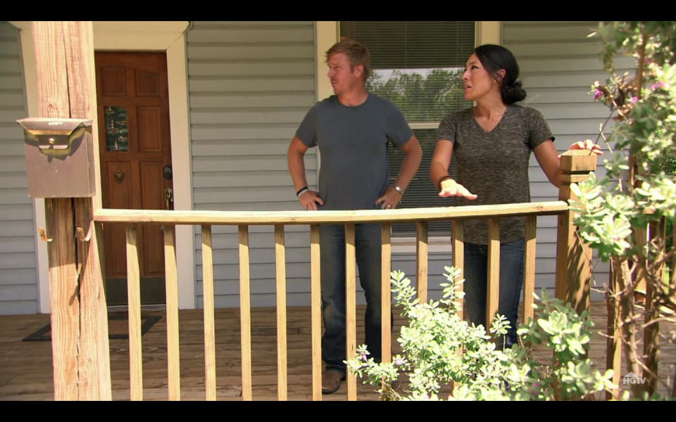"""<p>The show is split into multiple segments and Design Day is when the homeowners get an update on Chip and Joanna's plans. """"You've heard about the ideas, but [Design Day is] when you see a visual representation of what they have in store for your home,"""" Rachel Whyte told <a href=""""https://www.countryliving.com/life/entertainment/a18652613/what-its-really-like-to-be-on-fixer-upper/"""" rel=""""nofollow noopener"""" target=""""_blank"""" data-ylk=""""slk:Country Living"""" class=""""link rapid-noclick-resp"""">Country Living</a>.</p>"""