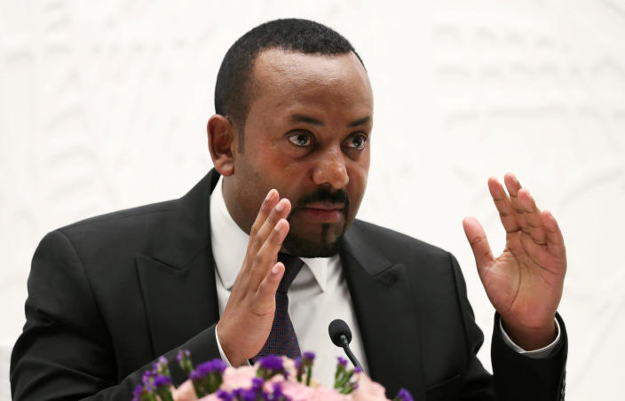 Ethiopia's Prime Minister Abiy Ahmed speaks at a news conference at his office in Addis Ababa, Ethiopia, August 1, 2019. / Credit: REUTERS