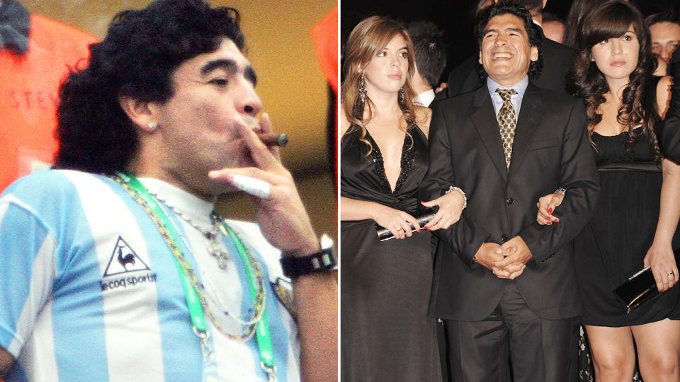 Diego Maradona, pictured here before his tragic death at age 60.