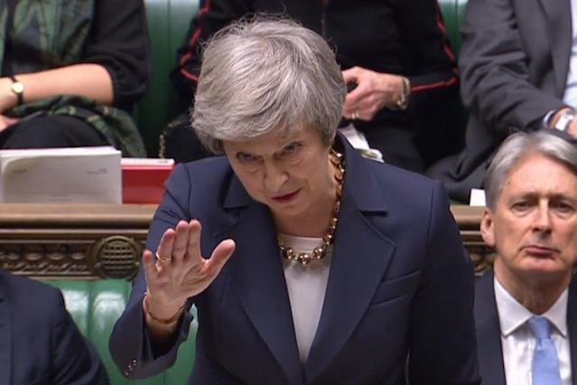 Under pressure: Theresa May: AFP/Getty Images