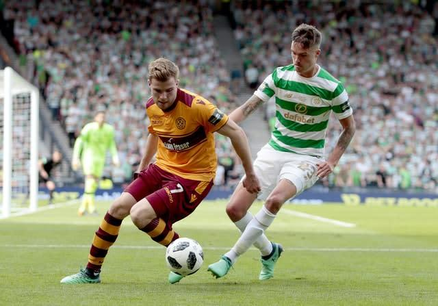 Cadden came through the Motherwell youth ranks (Graham Stuart/PA)