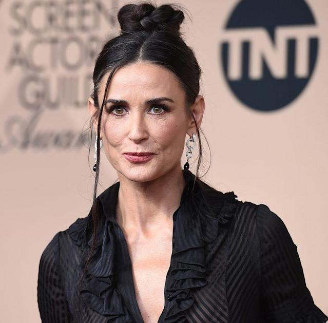 Demi Moore poses at the 22nd annual Screen Actors Guild Awards. (Photo: Jordan Strauss/Invision/AP)