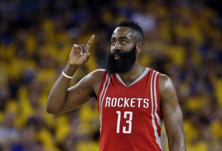 James Harden is starting to understand what it means to be the franchise. (AP)