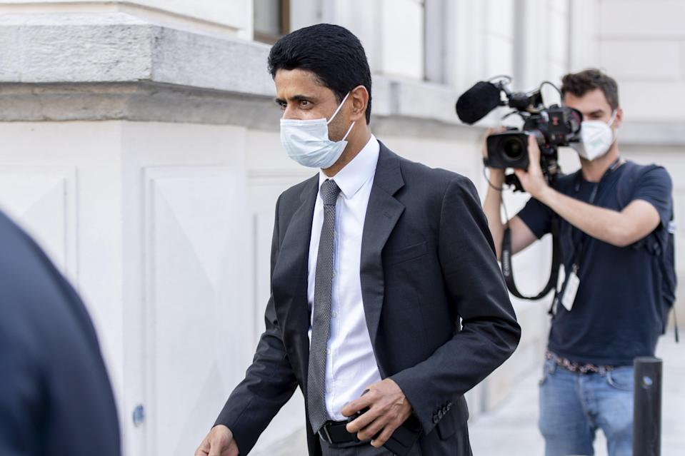 Nasser al-Khelaifi has been acquitted of criminal mismanagement in a Swiss corruption trial (EPA)
