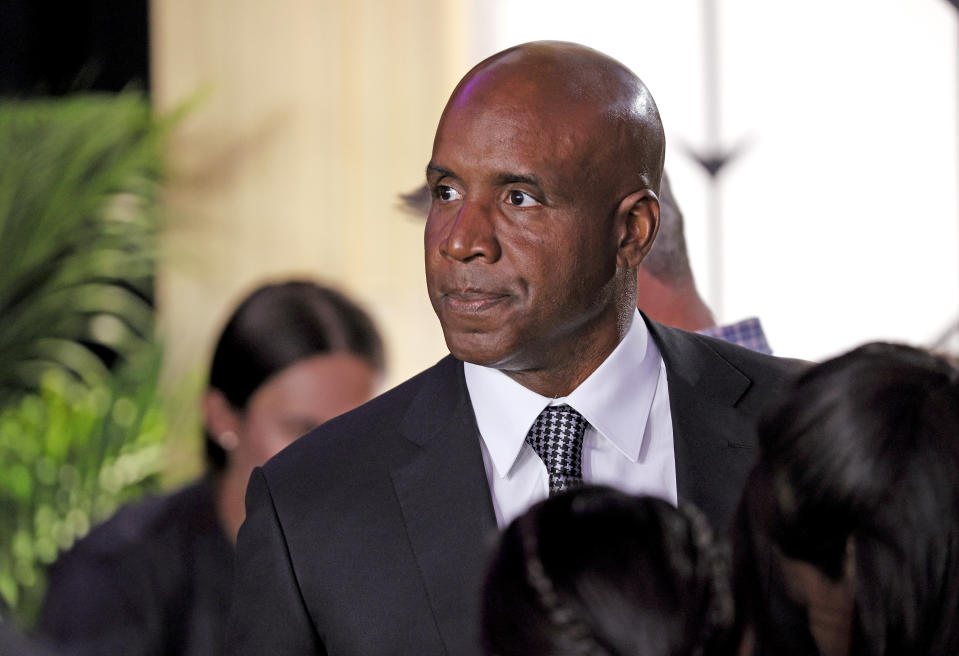 TARRYTOWN, NEW YORK - JUNE 13: Barry Bonds attends the 145th Annual Westminster Kennel Club Dog Show on June 13, 2021 in Tarrytown, New York. Spectators are not allowed to attend this year, apart from dog owners and handlers, because of safety protocols due to Covid-19. (Photo by Michael Loccisano/Getty Images)