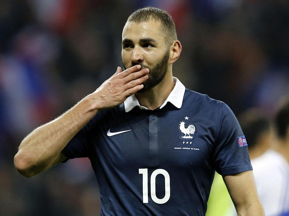 Striker Karim Benzema is in the France squad for the first time since 2015 (AFP via Getty Images)