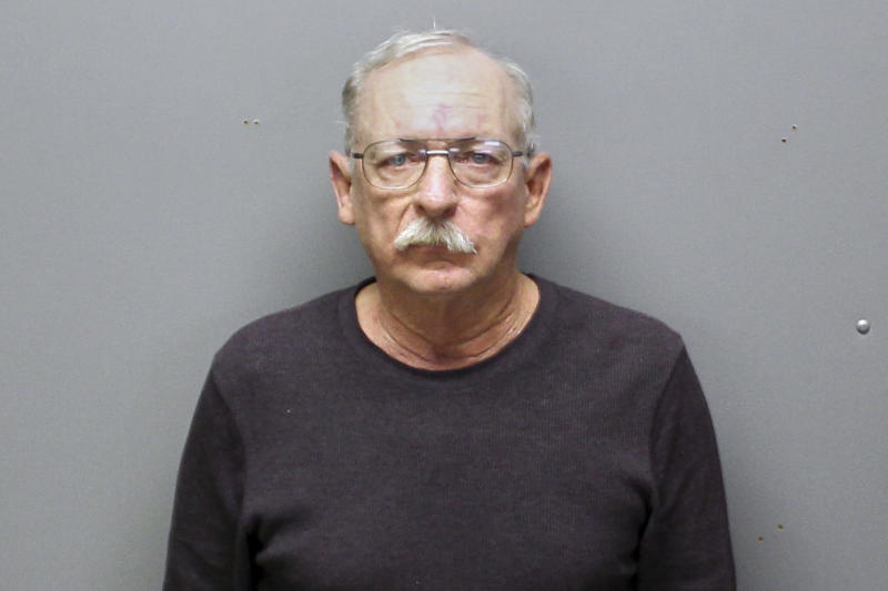 This Monday, Dec. 23, 2019 arrest photo provided by the Franklin County, Mo., Sheriff's Department shows Kirby King, 64. He is charged with second-degree murder for a killing that happened 32 years ago. King was indicted by a grand jury Dec. 11 and arrested Monday, in the 1987 death of 22-year-old Karla Jane Delcour, whose body was found near Interstate 44 in Franklin County, Missouri. She had been strangled, with her hands tied to a rope around her neck. (Franklin County Sheriff's Department via AP)