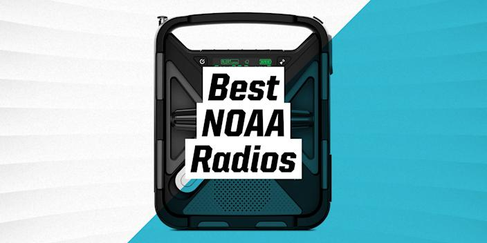 """<p>Investing in a NOAA weather radio is investing in staying safe and informed even (or especially) if you don't have access to electricity. Designed specifically to pick up alerts about extreme weather and natural disasters from the <a href=""""https://www.noaa.gov/"""" rel=""""nofollow noopener"""" target=""""_blank"""" data-ylk=""""slk:National Oceanic and Atmospheric Association"""" class=""""link rapid-noclick-resp"""">National Oceanic and Atmospheric Association</a>, they're powered by batteries, hand cranks, solar panels, or a combination of the three. Most models have loud alarms and flashing lights. Plus, many of them have extras like AM and FM stations, phone charging ports, and flashlights to make the wait for power a little easier. Check out our buying guide below before diving into the reviews of the best radios to help you figure out which has all the features you might need. </p><h3 class=""""body-h3"""">How to Choose an NOAA Radio </h3><p>When looking for the NOAA radio, you will want to consider your power source, how rugged it is, and extra features.</p><p><strong>Power source: </strong>Your radio will be powered one of three ways—solar, hand crank, or batteries—and some will include up to all three. A hand crank is the most reliable, as you can always create your own power. Solar is usually accompanied by another power source, but it's a great option if you're hiking or camping out under the sun. And battery power is convenient and low maintenance—just be sure that you have extra batteries on hand so you don't end up with a dead radio. </p><p><strong>Durability: </strong>If you're going to be taking your radio with you into the outdoors, be sure that it can handle the journey. This means you will want to choose one that is immune to water, drops, and dirt. If you simply want a radio to keep you informed at home, you can go with a less burly—and often cheaper—model. </p><p><strong>Extra features: </strong>Don't sleep on some of these—they may seem like an unnecessary expense now, but"""
