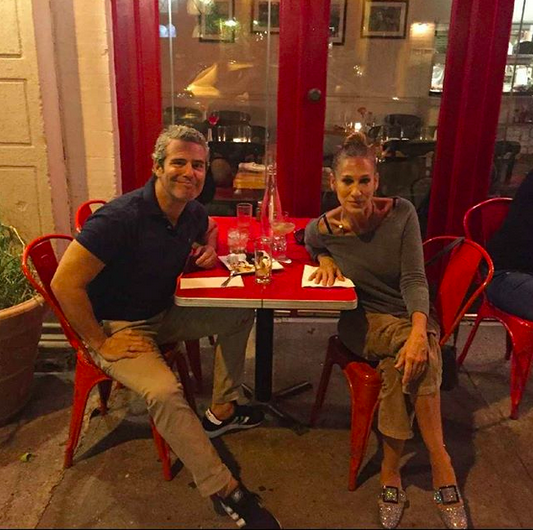 "<p>SJP got sentimental at an old NYC favorite, with BFF Andy Cohen. ""@cornelia_street_cafe with my date @bravoandy, the spot of my FIRST date with my now husband. It's just that kind of a place. A Greenwich Village Institute. You'll see."" (Photo:<a href=""https://www.instagram.com/p/BZU4xFaD7BB/?taken-by=sarahjessicaparker"" rel=""nofollow noopener"" target=""_blank"" data-ylk=""slk:SJP via Instagram"" class=""link rapid-noclick-resp""> SJP via Instagram</a>) </p>"