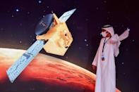 """The unmanned Emirati probe, known as """"Al-Amal"""" in Arabic, is one of three spacecraft racing to Mars, including Tianwen-1 from China and Mars 2020 from the United States"""
