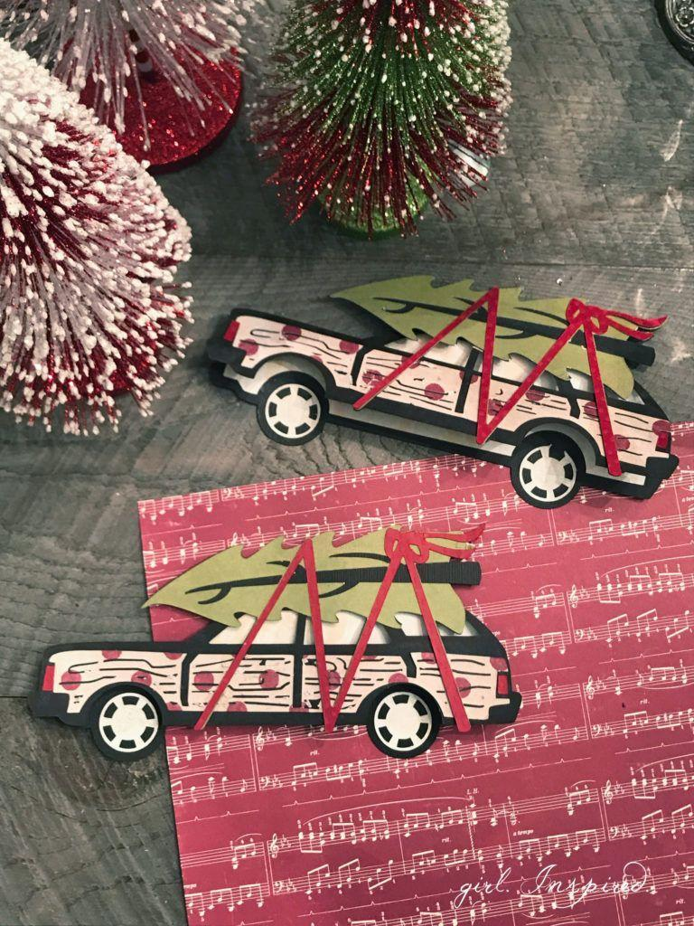 """<p>Recreate one of the more iconic holiday illustrations—a woody with a Christmas tree tied to the roof—using Christmas scrapbook paper and a cutting machine. </p><p><em>Get the tutorial at <a href=""""https://thegirlinspired.com/holiday-cards-crafters-cricut/"""" rel=""""nofollow noopener"""" target=""""_blank"""" data-ylk=""""slk:Delineate Your Dwelling"""" class=""""link rapid-noclick-resp"""">Delineate Your Dwelling</a>.</em> </p><p><a class=""""link rapid-noclick-resp"""" href=""""https://www.amazon.com/Pattern-Paper-Pack-Double-Sided-Scrapbooking/dp/B07Z9MTR6F/?tag=syn-yahoo-20&ascsubtag=%5Bartid%7C10072.g.34351112%5Bsrc%7Cyahoo-us"""" rel=""""nofollow noopener"""" target=""""_blank"""" data-ylk=""""slk:SHOP HOLIDAY PAPER"""">SHOP HOLIDAY PAPER</a></p>"""