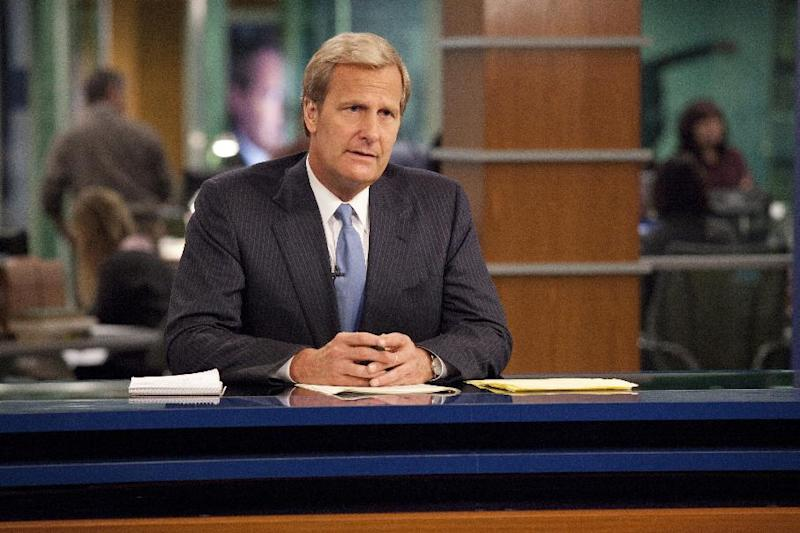 """This publicity image released by HBO shows Jeff Daniels portraying anchor Will McAvoy on the HBO series, """"The Newsroom,"""" premiering Sunday, June 24, 2012 at 10 p.m. EST on HBO. (AP Photo/HBO, John P. Johnson)"""