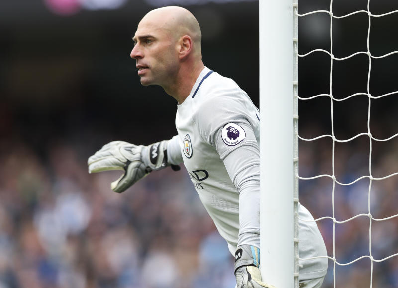 Willy Caballero seems to be happy on the bench