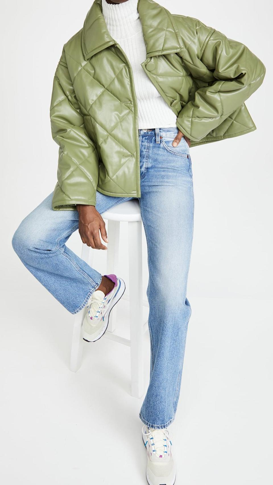 <p>This mid-toned green is going to be everywhere this year. It's flattering, calming, and so aesthetically pleasing. We love this <span>Stand Studio Jacinda Puffy Jacket</span> ($430).</p>