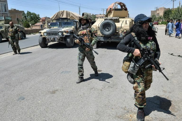 Afghan forces in Herat, one of the key cities the Taliban is trying to seize