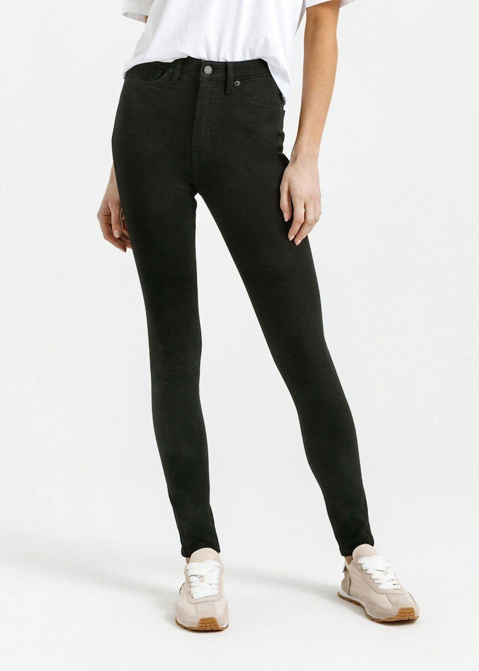 """<p><strong>Four Way Flex High Rise Skinny</strong></p><p>shopduer.com</p><p><strong>$119.00</strong></p><p><a href=""""https://go.redirectingat.com?id=74968X1596630&url=https%3A%2F%2Fshopduer.com%2Fcollections%2Fwomens%2Fproducts%2Fwomens-four-way-stretch-high-rise-skinny%3Fcolor%3Dblack&sref=https%3A%2F%2Fwww.prevention.com%2Ffitness%2Fworkout-clothes-gear%2Fg36840253%2Fbest-athleisure-brands%2F"""" rel=""""nofollow noopener"""" target=""""_blank"""" data-ylk=""""slk:Shop Now"""" class=""""link rapid-noclick-resp"""">Shop Now</a></p><p><strong><a href=""""https://go.redirectingat.com?id=74968X1596630&url=https%3A%2F%2Fshopduer.com%2F&sref=https%3A%2F%2Fwww.prevention.com%2Ffitness%2Fworkout-clothes-gear%2Fg36840253%2Fbest-athleisure-brands%2F"""" rel=""""nofollow noopener"""" target=""""_blank"""" data-ylk=""""slk:Duer"""" class=""""link rapid-noclick-resp"""">Duer</a></strong> takes denim to a whole new level. Made to be performance bottoms, Duer pants (including joggers and jeans) are athleisure without looking like it. While you may not think of jeans as loungewear, this brand changes that misconception with a pair like the <a href=""""https://go.redirectingat.com?id=74968X1596630&url=https%3A%2F%2Fshopduer.com%2Fcollections%2Fwomens%2Fproducts%2Fwomens-four-way-stretch-high-rise-skinny&sref=https%3A%2F%2Fwww.prevention.com%2Ffitness%2Fworkout-clothes-gear%2Fg36840253%2Fbest-athleisure-brands%2F"""" rel=""""nofollow noopener"""" target=""""_blank"""" data-ylk=""""slk:high rise skinny jean with four way flex."""" class=""""link rapid-noclick-resp"""">high rise skinny jean with four way flex.</a></p>"""