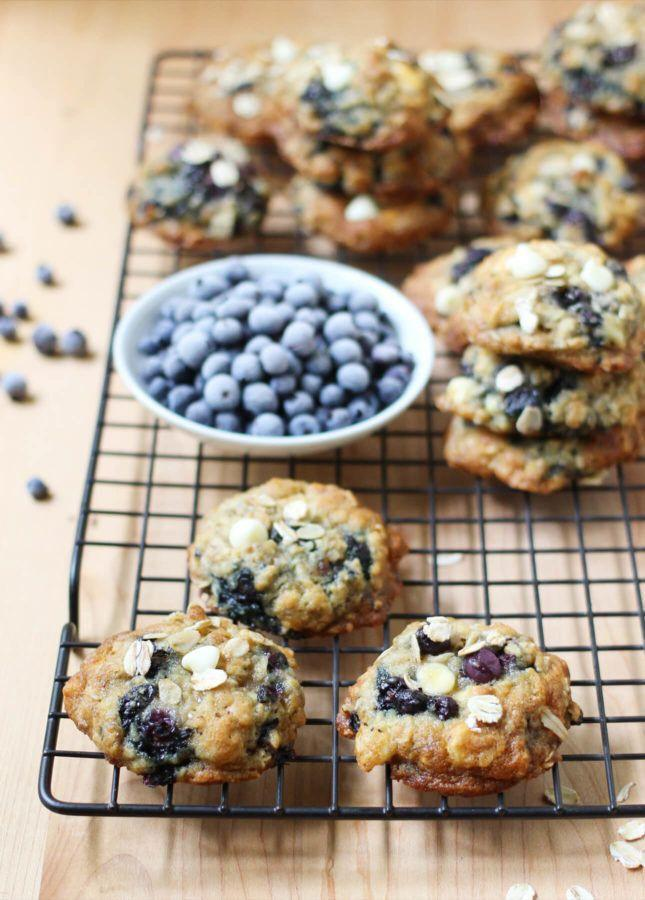 """<strong>Get the <a href=""""http://foodnouveau.com/recipes/desserts/cookies/oats-white-chocolate-wild-blueberry-cookies/"""" target=""""_blank"""">Oats, White Chocolate, and Wild Blueberry Cookies recipe</a>from Food Nouveau</strong>"""