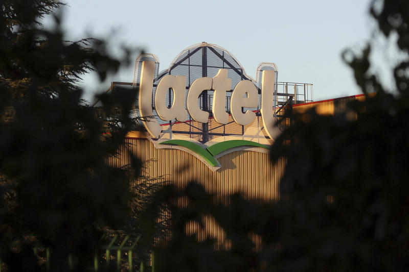 """FILE - This Monday, Aug. 22, 2016 file photo shows a general view of the Lactalis headquarters in Laval, western France. Baby milk maker Lactalis and French authorities have ordered a global recall of millions of products over fears of salmonella bacteria contamination. Company spokesman Michel Nalet told The Associated Press on Monday Dec. 11, 2017, that the """"precautionary"""" recall both in France and abroad affects """"several million"""" products made since mid-February. (AP Photo/David Vincent, File)"""