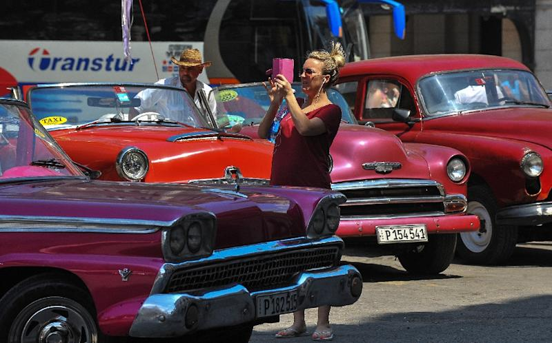 94,000 Americans visited Cuba from January to April, Tourism Minister Manuel Marrero said (AFP Photo/Yamil Lage)