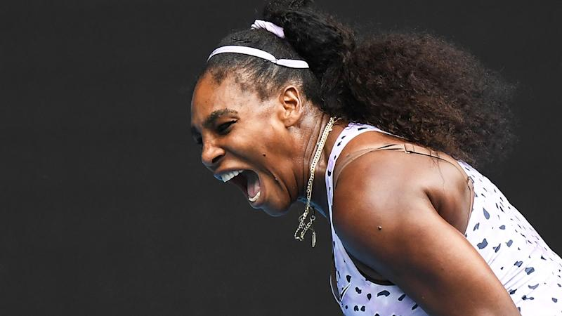Seen here, Serena Williams played a third round thriller against Wang Qiang at the Australian Open.