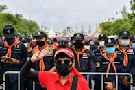 Thousands of protesters took part in the weekend demonstration in Bangkok