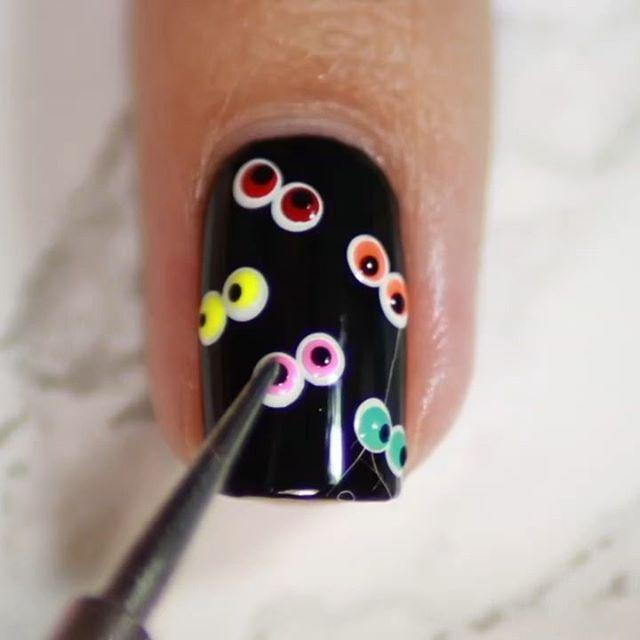 """<p>I spy with my little eye one adorable nail art idea. Use a nail brush to put these little peepers on your manicure.</p><p><a class=""""link rapid-noclick-resp"""" href=""""https://www.amazon.com/Doubel-Brushes-TEOYALL-Dotting-Drawing/dp/B07ZM8JS6S?tag=syn-yahoo-20&ascsubtag=%5Bartid%7C10055.g.1421%5Bsrc%7Cyahoo-us"""" rel=""""nofollow noopener"""" target=""""_blank"""" data-ylk=""""slk:SHOP NAIL BRUSHES"""">SHOP NAIL BRUSHES</a></p><p><a href=""""https://www.instagram.com/p/B3rdxXIAtPE/&hidecaption=true"""" rel=""""nofollow noopener"""" target=""""_blank"""" data-ylk=""""slk:See the original post on Instagram"""" class=""""link rapid-noclick-resp"""">See the original post on Instagram</a></p>"""
