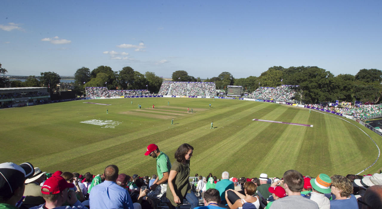 General view of play during the One Day International at The Village, Dublin.