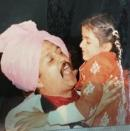 """<p><i>Quantico</i> actress Priyanka Chopra, with her late father, during her early years in India: """"To be serenaded and melting while he sings to me.. Adoring eyes.. Both ways. Miss u dad."""" -<span>@priyankachopra</span> (Instagram)</p>"""