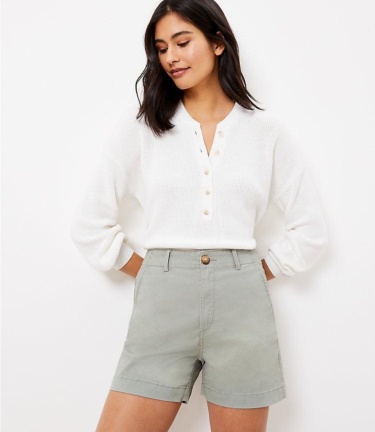 <p>The <span>LOFT Washed Twill Shorts</span> ($50) come in so many cute colors.</p>