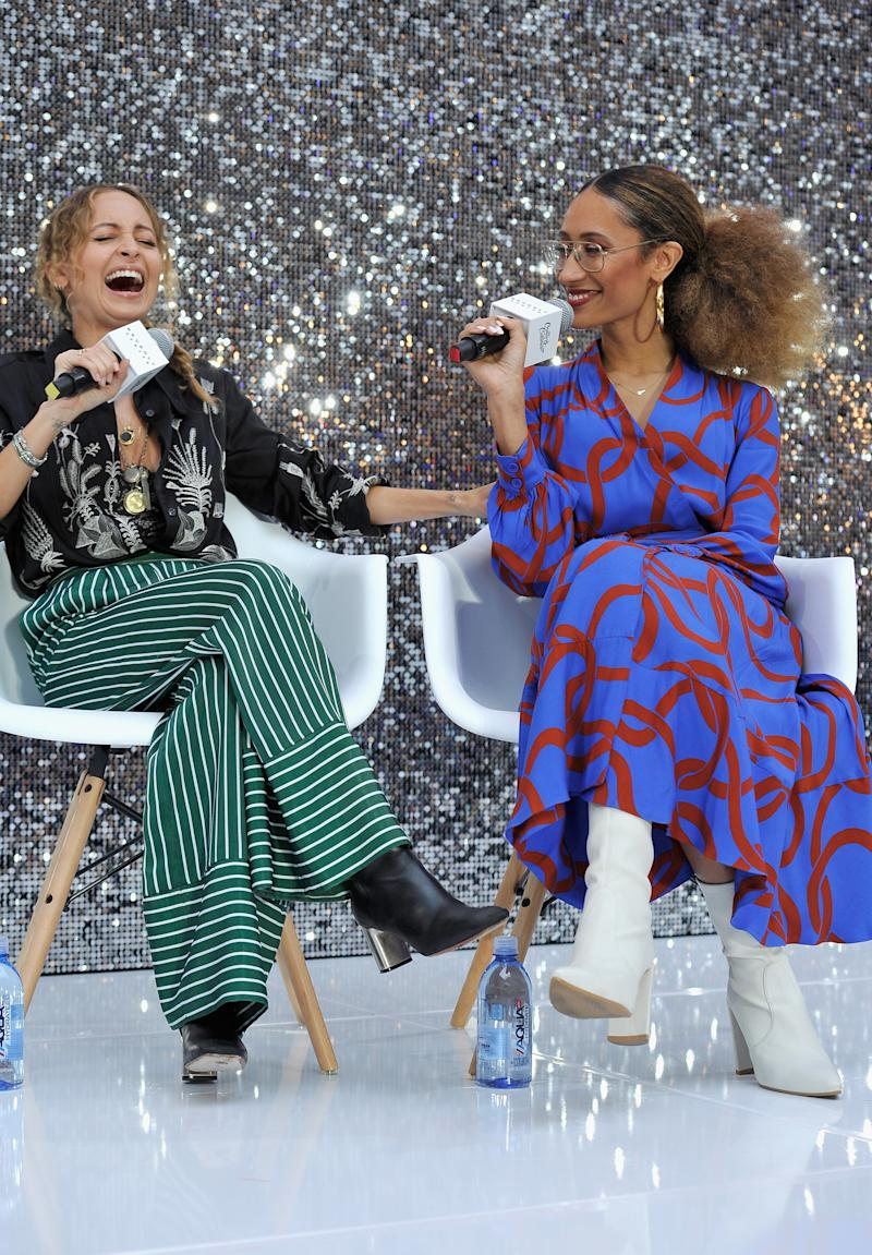 Nicole Richie, left, and Elaine Welteroth