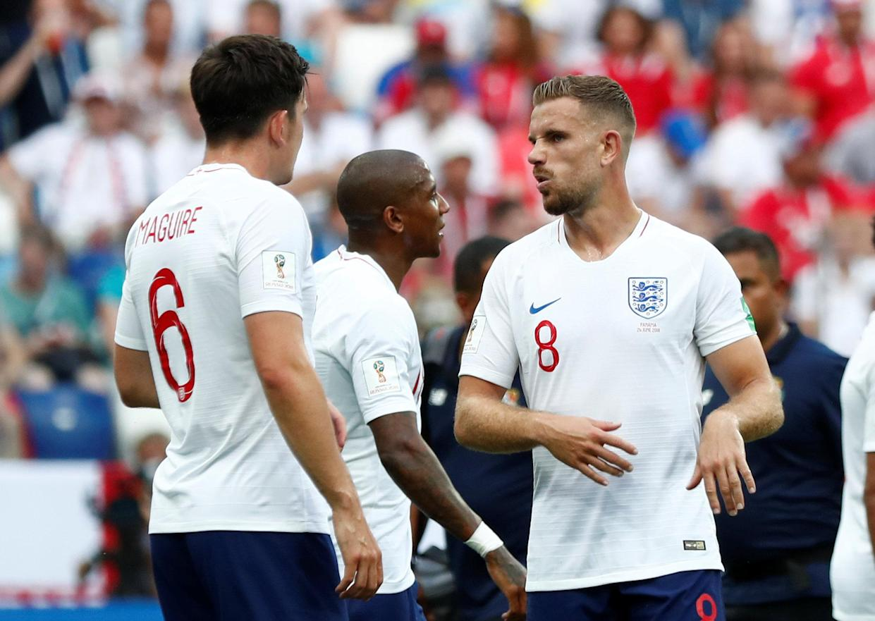 Impressive: Jordan Henderson again performed well in the England midfield