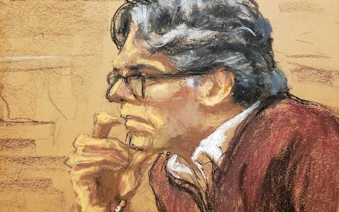 A court room sketch of Nxivm leader Keith Raniere - Credit: Reuters