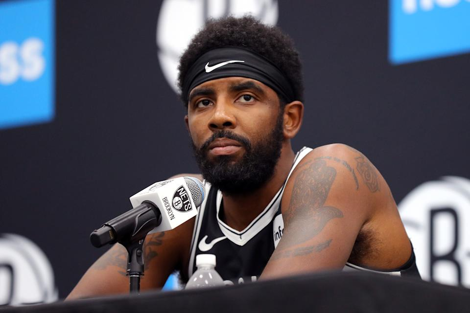 Kryie Irving couldn't attend Nets media day in person on Monday because of