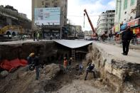 Roman ruins are discovered in downtown Amman
