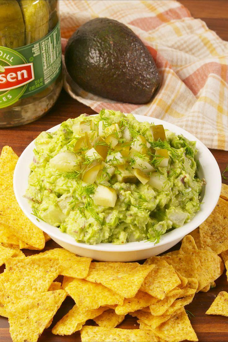 """<p>You know you're curious.</p><p>Get the recipe from <a href=""""https://www.delish.com/cooking/recipe-ideas/recipes/a57987/pickle-guacamole-recipe/"""" rel=""""nofollow noopener"""" target=""""_blank"""" data-ylk=""""slk:Delish"""" class=""""link rapid-noclick-resp"""">Delish</a>. </p>"""