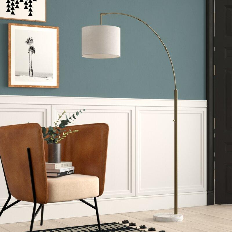 "Matlock 73.5"" Arched Floor Lamp (Credit: Wayfair)"