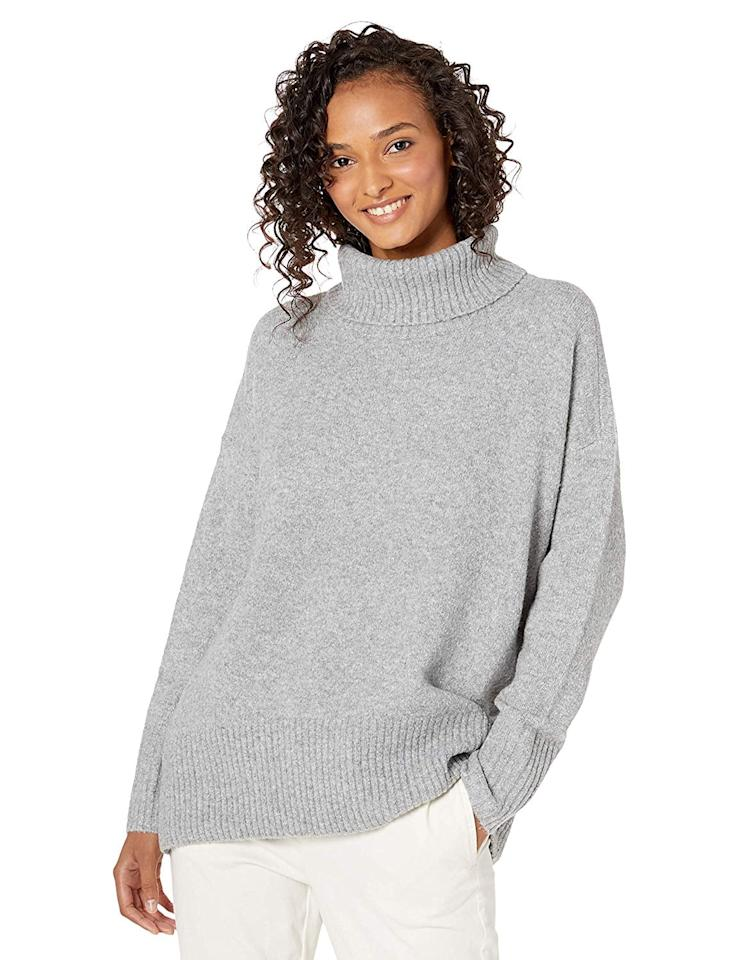 "<p>Available in 10 colors, <a href=""https://www.popsugar.com/buy/Daily-Ritual-Women-Cozy-Boucle-Turtleneck-Sweater-517286?p_name=Daily%20Ritual%27s%20Women%27s%20Cozy%20Boucle%20Turtleneck%20Sweater&retailer=amazon.com&pid=517286&price=42&evar1=fab%3Aus&evar9=46898603&evar98=https%3A%2F%2Fwww.popsugar.com%2Fphoto-gallery%2F46898603%2Fimage%2F46898653%2FDaily-Ritual-Boucle-Turtleneck-Sweater&prop13=api&pdata=1"" rel=""nofollow"" data-shoppable-link=""1"" target=""_blank"" class=""ga-track"" data-ga-category=""Related"" data-ga-label=""https://www.amazon.com/Amazon-Brand-Ritual-Turtleneck-Sweater/dp/B07PD1KZ86/ref=sr_1_108_sspa"" data-ga-action=""In-Line Links"">Daily Ritual's Women's Cozy Boucle Turtleneck Sweater</a> ($42) has a slouchy fit, with dropped shoulders and a loose turtleneck.</p>"