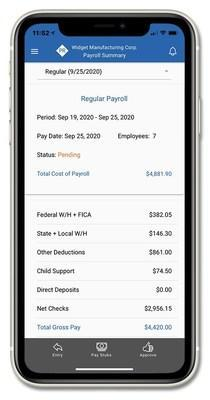 Summary of Payroll Numbers on Payroll Relief Mobile App