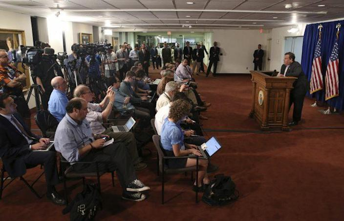New Jersey Gov. Chris Christie addresses the media on July 3 in Trenton, N.J. (Photo: Mel Evans/AP)