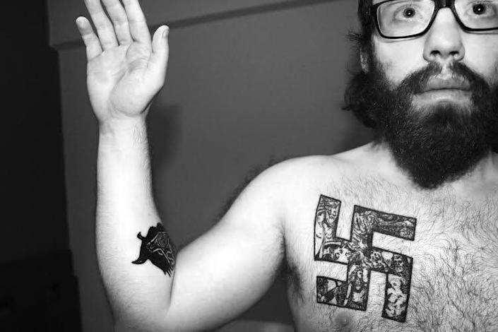 "Andrew ""weev"" Auernheimer publicly declared himself a neo-Nazi in 2014 in a post on The Daily Stormer, which included this picture. (Photo: )"
