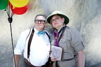 <p>Cosplayers dressed as Ellie and Carl from <em>Up</em> at Comic-Con International on July 20 in San Diego. (Photo: Mario Tama/Getty Images) </p>