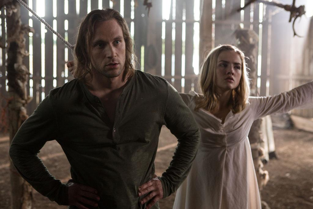 "Hunter Jackson as Todd and Maddie Hasson as Carly in the ""Grimm"" episode, ""Bad Moon Rising."""