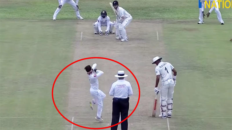 Akila Dananjaya, pictured here bowling against New Zealand.