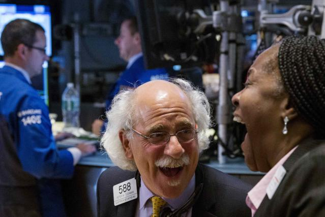 Traders and consumers alike appear to be laughing off the sell-off that rocked the stock market last week. REUTERS/Lucas Jackson