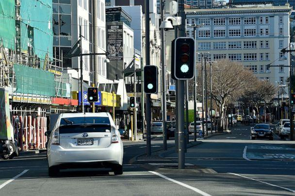 PHOTO: Wellington streets generally quieter under level 2 restrictions, Aug. 15, 2020, in Wellington, New Zealand. (Masanori Udagawa/Getty Images)