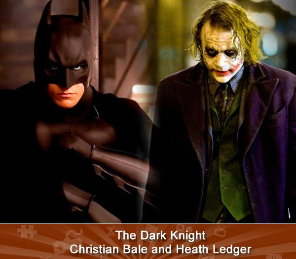 """THE DARK KNIGHT ( Christian Bale and Heath Ledger) -- Why so serious? Because Heath Ledger's performance as The Joker in what many consider the greatest superhero movie of all time is seriously great. Nabbing the actor a posthumous Oscar, Ledger's homicidal, chaotic mess of a criminal makes other Jokers look positively pleasant. And while Bale's Batman mostly just growls and fights, he's still loads better than Val Kilmer (or George Clooney).<br><br>(<a href=""""http://www.amazon.com/s/ref=nb_sb_noss?url=search-alias%3Dvideogames&field-keywords=The+Dark+Knight&x=0&y=0/?tag=yahgam-20"""" rel=""""nofollow noopener"""" target=""""_blank"""" data-ylk=""""slk:Buy"""" class=""""link rapid-noclick-resp"""">Buy</a> 