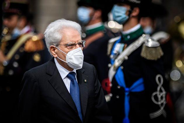 ROME, ITALY - JUNE 02: Italian President Sergio Mattarella attends the celebrations for the 75th anniversary of the proclamation of the Italian Republic (Republic Day), on June 2, 2021 in Rome, Italy. 2021 marks the 75th anniversary of the Italian Republic, which is celebrated without the usual parade because of the current COVID-19 pandemic. (Photo by Antonio Masiello/Getty Images) (Photo: Antonio Masiello via Getty Images)