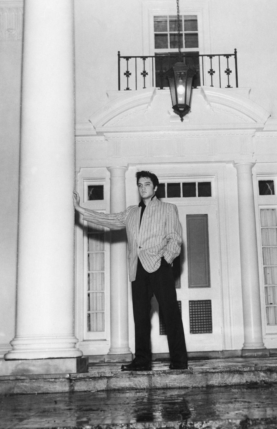 "<p>The extensive property was built in 1939 and was once owned by a prominent Memphis family, the Toofs. The name Graceland was <a href=""https://www.elvis.com.au/presley/the-moores-and-presleys-at-graceland.shtml"" rel=""nofollow noopener"" target=""_blank"" data-ylk=""slk:an ode to Grace Toof Ward"" class=""link rapid-noclick-resp"">an ode to Grace Toof Ward</a>.</p>"